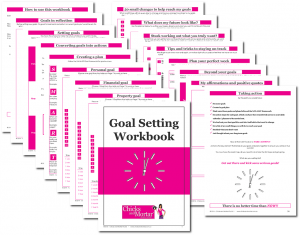 Chicks and Mortar - Goal Setting Workbook pages