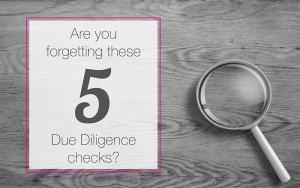Due diligence checks not to be overlooked