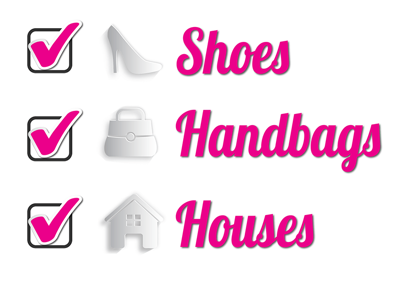 Chicks and Mortar - Shoes, handbags, houses