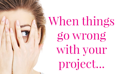 Project failures, project management, errors, mistakes, when things go wrong, fixing mistakes